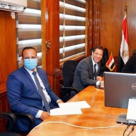 وزيرة التجارة والصناعة وسفير ألمانيا بالقاهرة