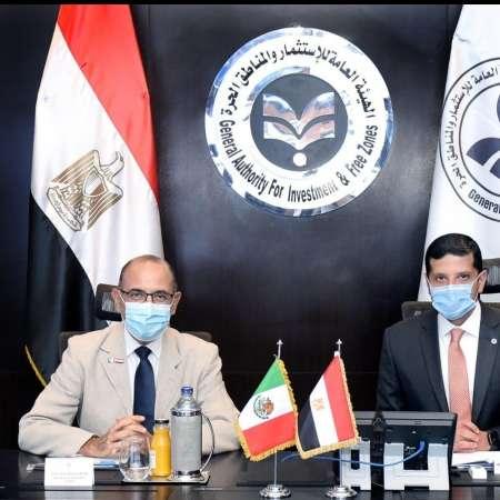 المستشار محمد عبدالوهاب يلتقي سفير المكسيك