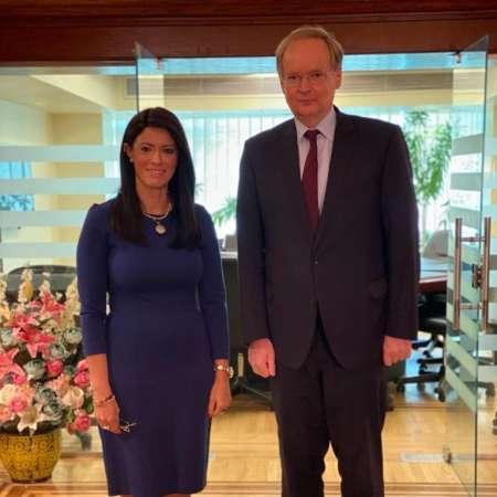 وزيرة التعاون الدولي وسفير الاتحاد الأوروبي